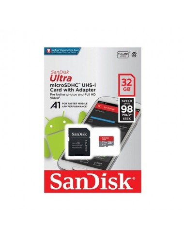 Microsd Hc 32 Gb Sandisk 98mbs
