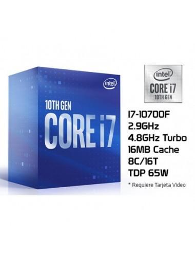 Procesador Intel Core I7-10700f 2.9 Ghz 1200 sin video integrada
