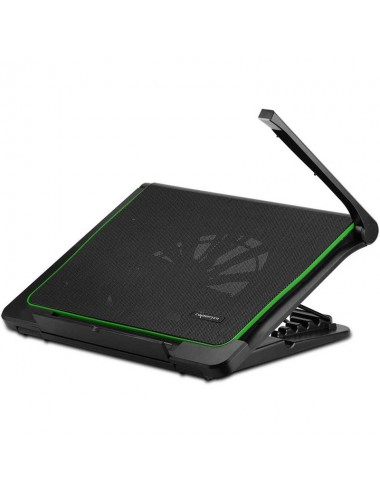 Base P/notebook C/cooler Wesdar Black Green With Light (wd-k-8288f)