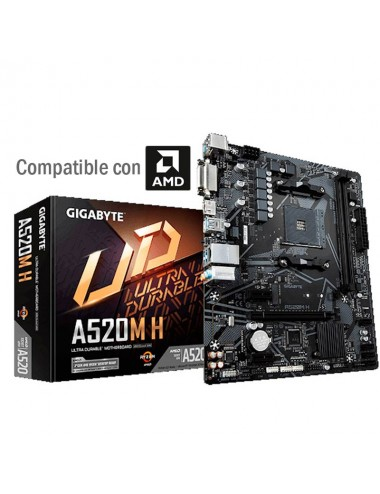 placa madre Motherboard AM4 GIGABYTE A520M - H
