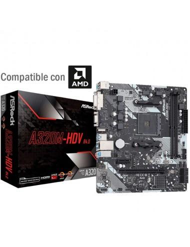 placa madre motherboard Am4 Asrock A320m - Hdv