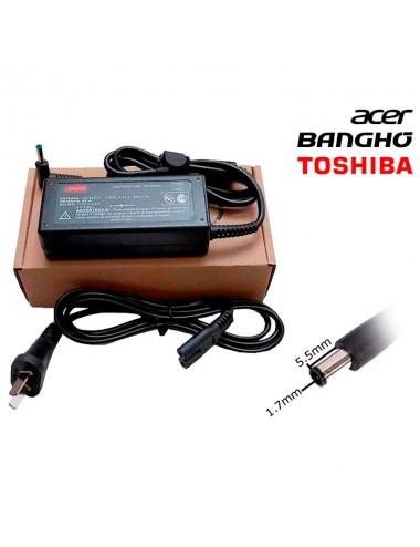 Cargador Notebook Shure Sh-cnf65w-4 para toshiba acer BANGHO 5.5 x 1.7 mm 65W 19V 3.42A