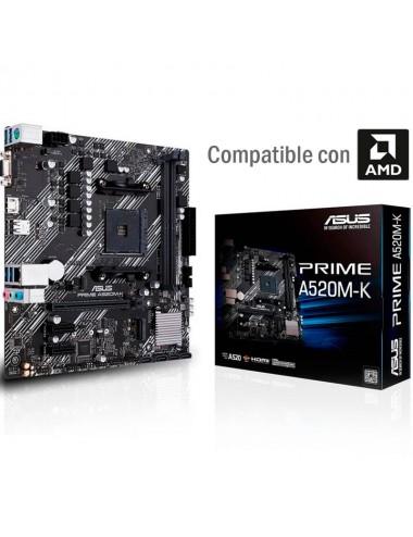 Placa madre motherboard Am4 Asus Prime A520m - K para procesadores AMD
